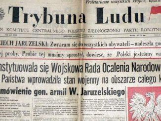 """""""Trybuna Ludu"""" i """"Żołnierz-Wolności"""" to jedyna prasa, którą można było kupić w kiosku 14 grudnia 1981 r."""