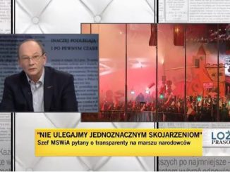 Piotr Stasiński w Loży prasowej
