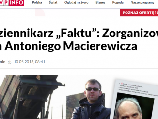 Wpis na TVP.info Dziennikarz Faktu
