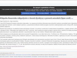 Komunikat ze strony polskiej Wikipedii