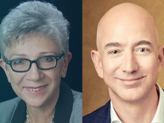 Danuta Przywara i Jeff Bezos