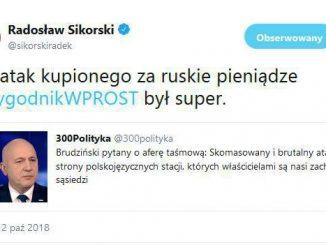 Sikorski skasował wpis
