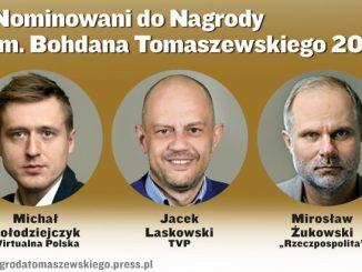 Nominowani do Nagrody im. Bohdana Tomaszewskiego 2018