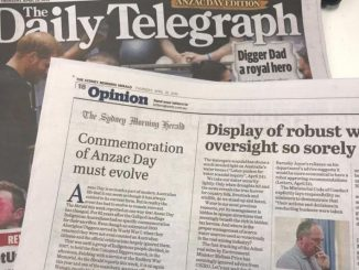 "Strony konkurencyjnego ""The Sydney Morning Herald"" na łamach ""The Daily Telegraph"""