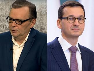 Piotr Gajdziński i Mateusz Morawiecki