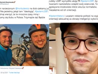 """Wpisy Wojciecha Karpieszuka i Samuela Pereiry dot. akcji """"#jestemLGBT"""""""