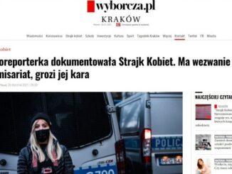 Konstancja Nowina-Konopka fotoreporterka z Krakowa wezwana na komendę policji w związku z relacjonowaniem protestu w grudniu ubiegłego roku